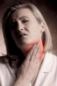 Боль в области щитовидной железы